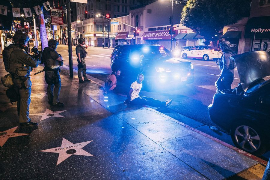 Photo prise à Hollywood Boulevard, le 2 juin.