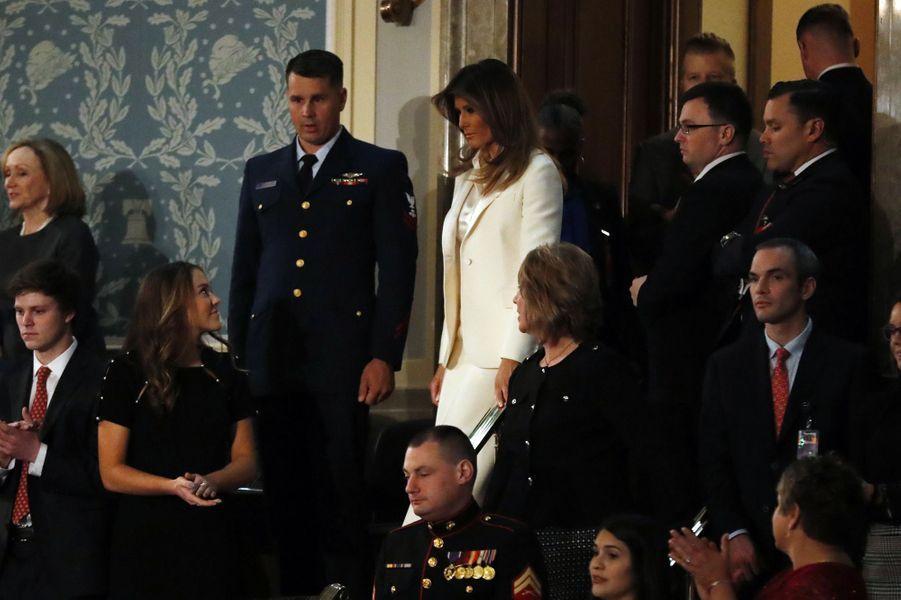 Melania Trump au discours de l'Etat de l'Union.