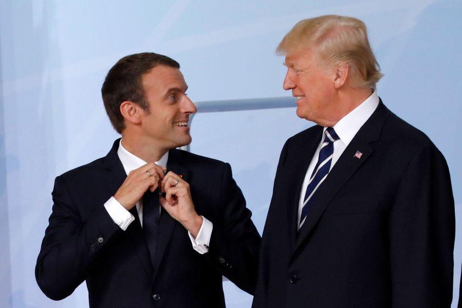 Emmanuel Macron et Donald Trump vendredi au G20 à Hambourg.