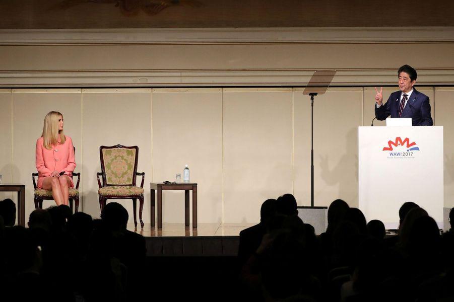 Shinzo Abe etIvanka Trump à Tokyo, le 3 novembre 2017.