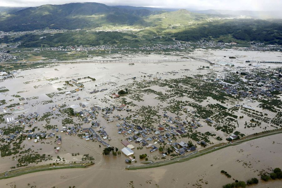Les inondations àNagano