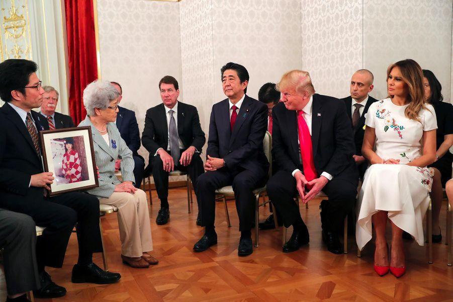 Donald et Melania Trump à Tokyo, le 27 mai 2019.