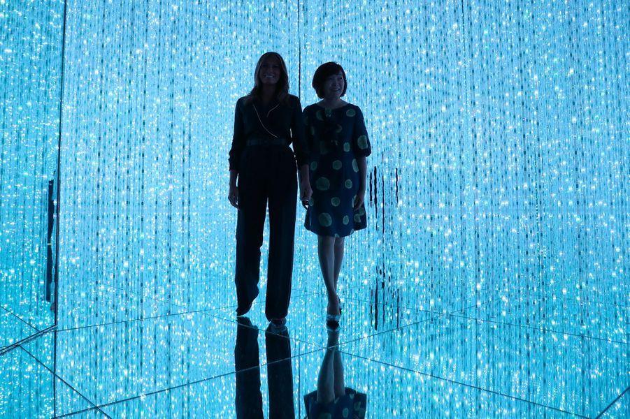 Melania Trump et Akie Abe au Musée d'art moderne de Tokyo, le 26 mai 2019.