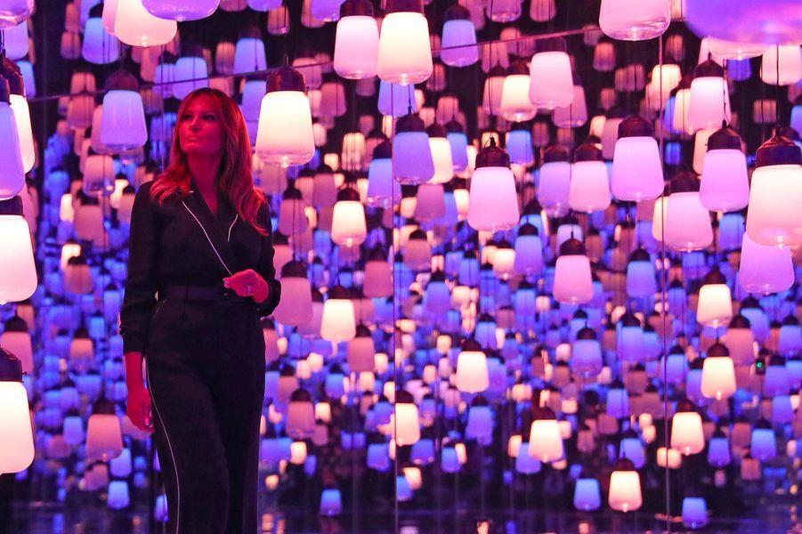 Melania Trump au Musée d'art moderne de Tokyo, le 26 mai 2019.