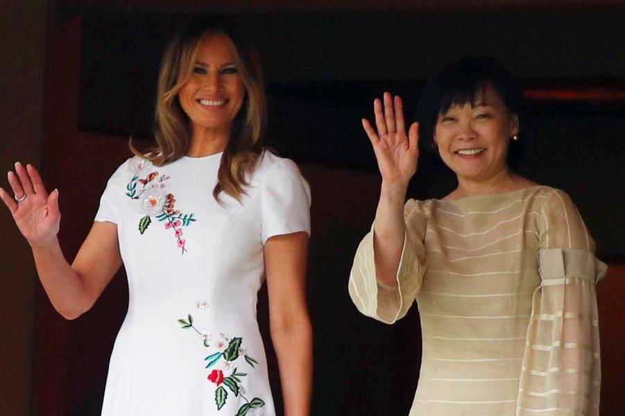 Melania Trump et Akie Abe, le 27 mai 2019.