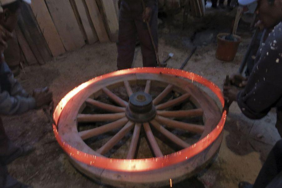Cerclage d'une roue