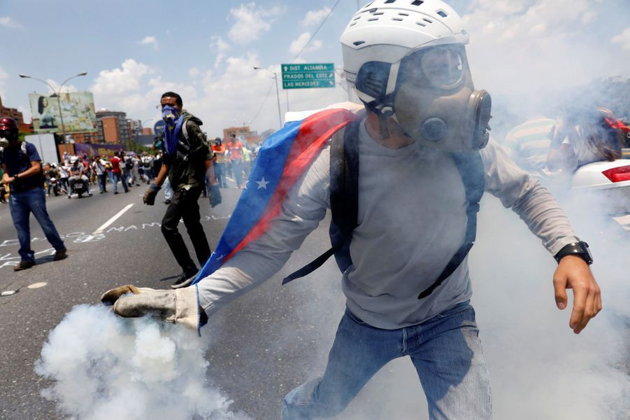 Manifestation à Caracas, le 26 avril 2017.