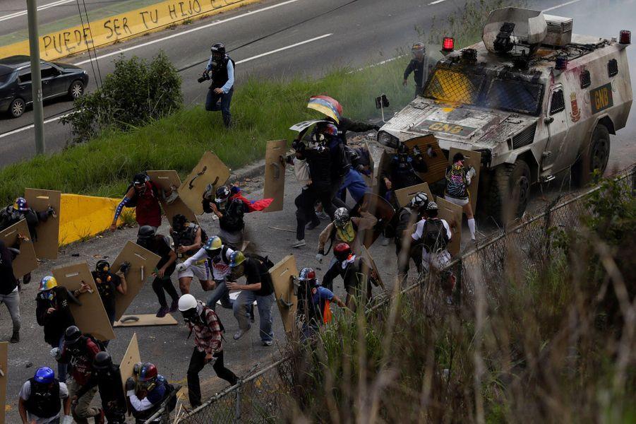 Manifestation à Caracas, au Venezuela, le 18 juillet 2017.