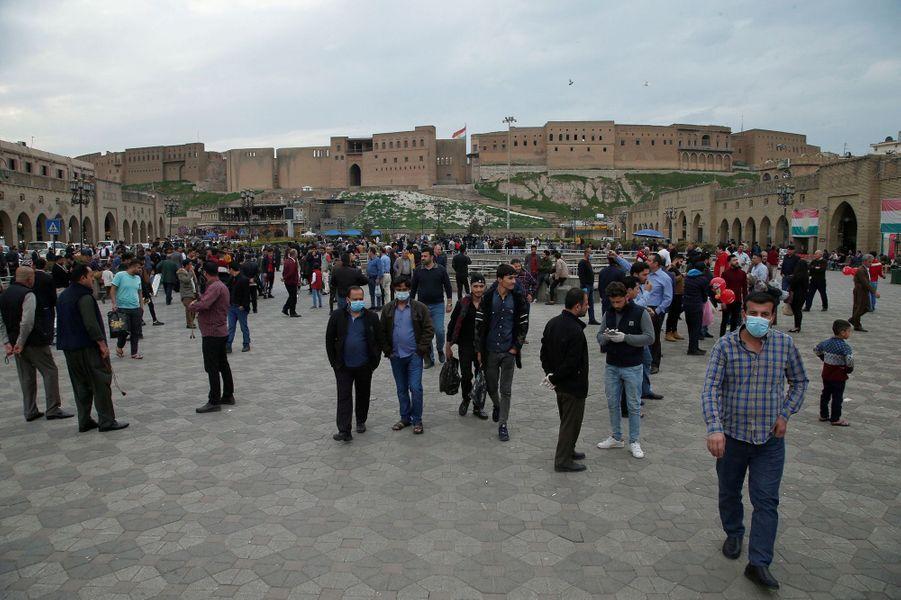 La vieille ville d'Erbil (Irak), le 13 mars.