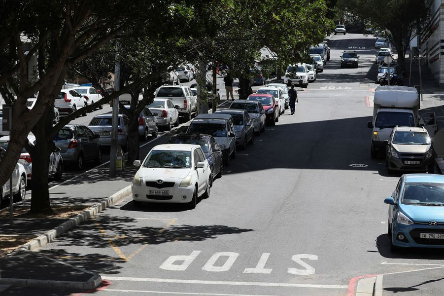 Une rue du Cap(Afrique du Sud), le 20 mars.