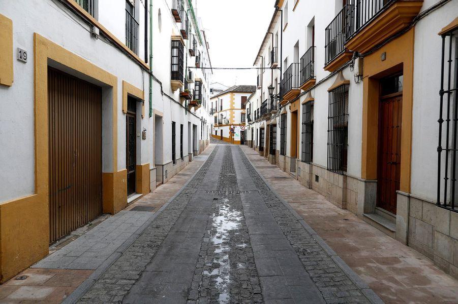 Une rue de Ronda (Espagne), le 22 mars.