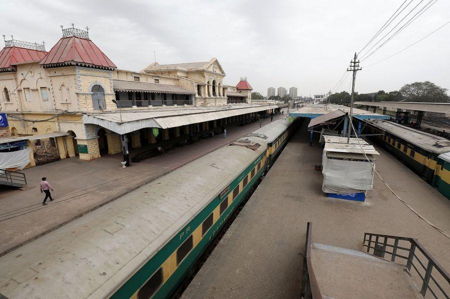 La gare deKarachi (Pakistan), le 25 mars.