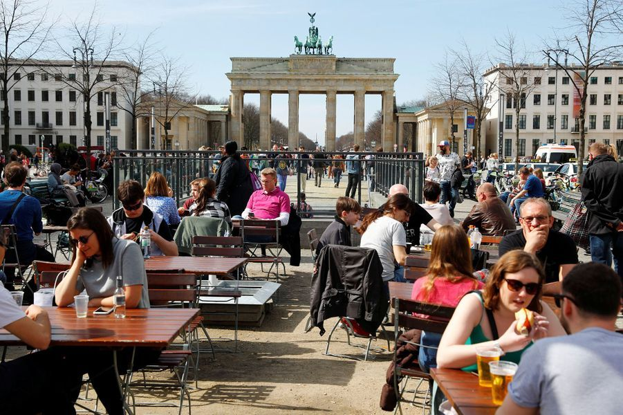 LaPorte de Brandebourg de Berlin (Allemagne), le 4 avril 2018.