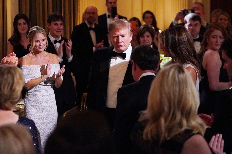 Donald Trumplors du Governors Ball à la Maison-Blanche, le 24 février 2019.