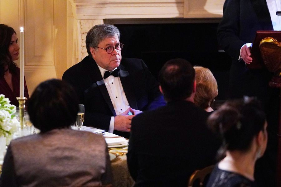 William Barr lors du Governors Ball à la Maison-Blanche, le 24 février 2019.