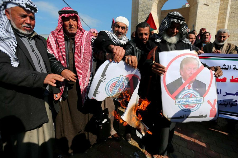 Manifestation à Rafah, le 28 janvier 2020.
