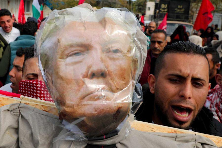 Manifestation à Gaza City, le 27 janvier 2020.