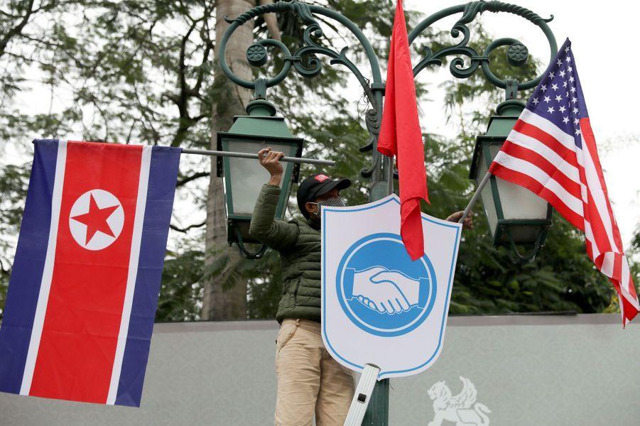 Préparatifs à Hanoï avant le nouveau sommet entre Kim Jong-un et Donald Trump.