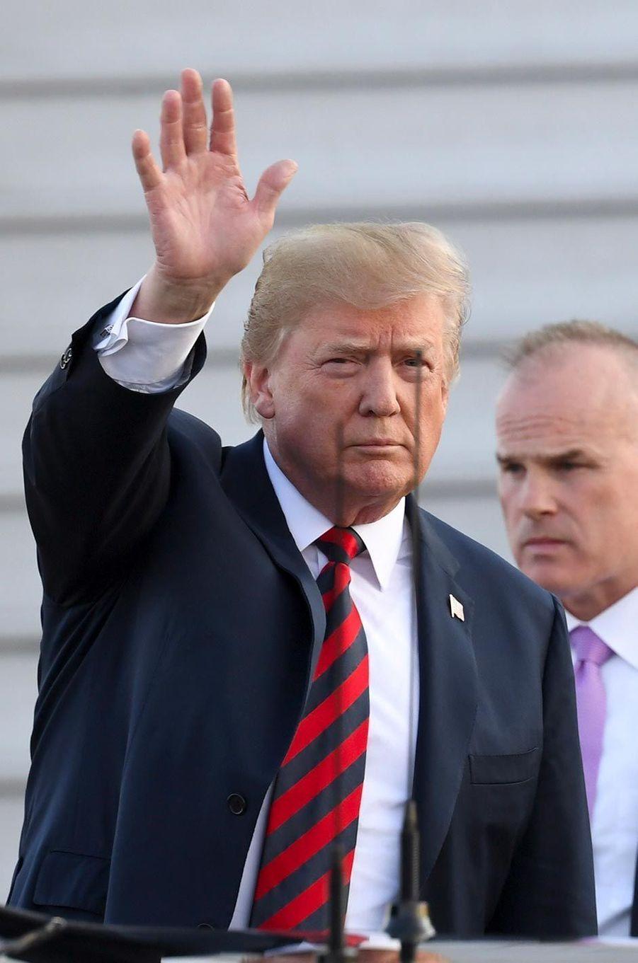 Donald Trump arrivant en Finlande, le 15 juillet 2018.