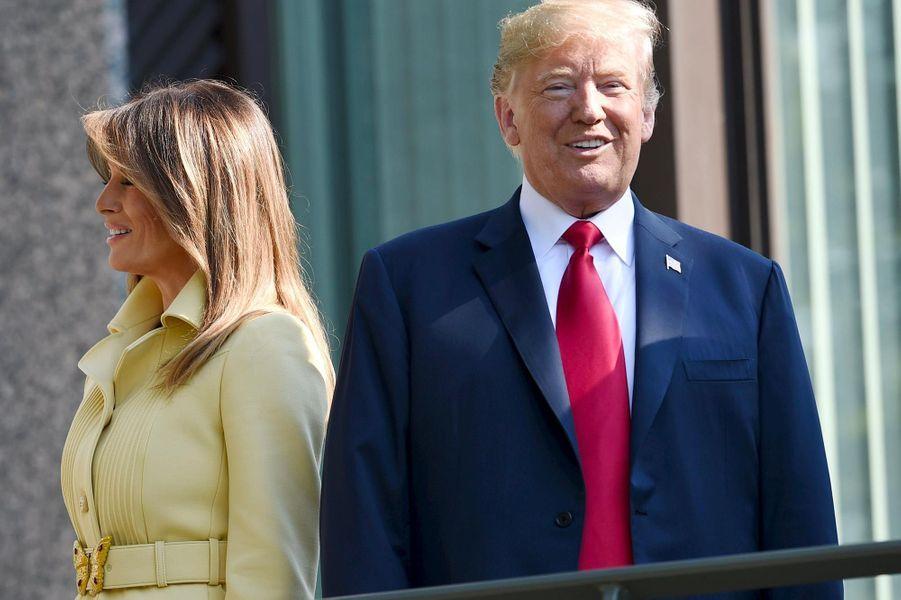 Donald et Melania Trumpà Helsinki, le 16 juillet 2018.