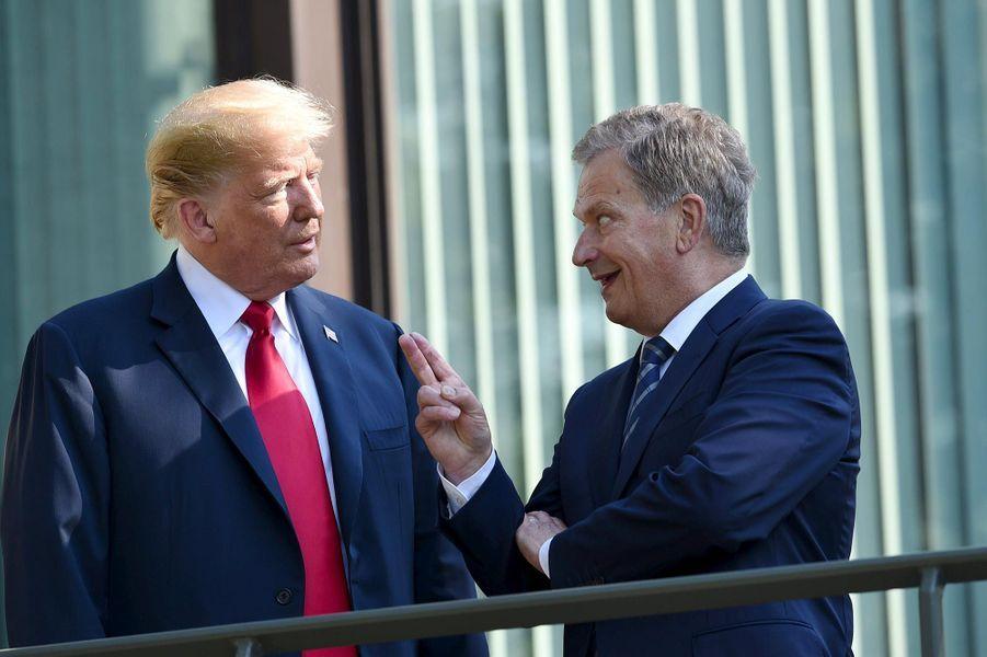 Donald Trump et le président finlandaisSauli Niinisto, à Helsinki, le 16 juillet 2018.