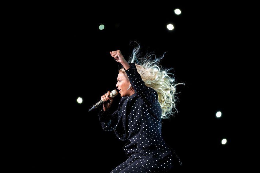 Beyoncé sur la scène de Cleveland, le vendredi 4 novembre 2016.