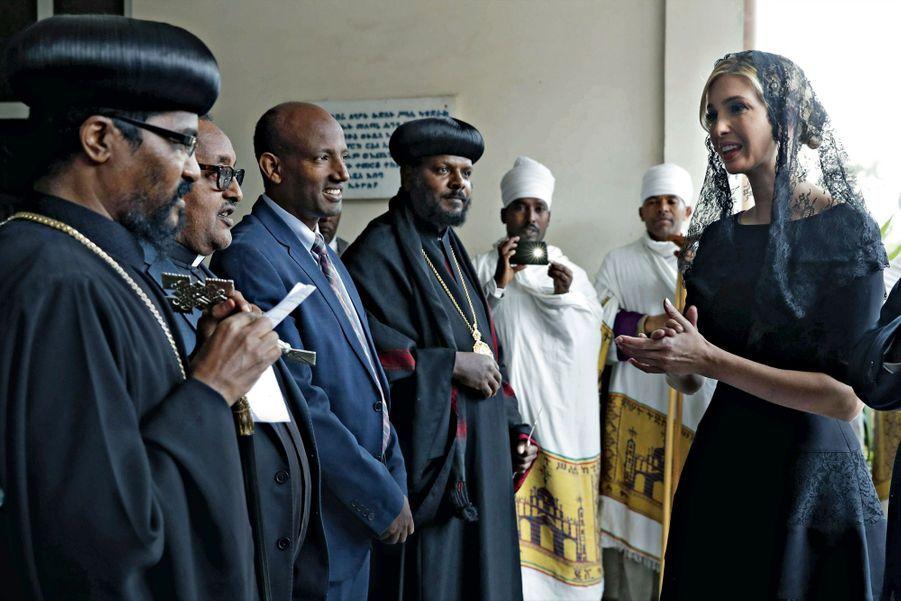 En mantille noire, à la cérémonie pour les victimes du crash de l'Ethiopian Airlines, survenu le 10 mars.