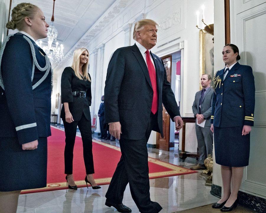 A la Maison-Blanche, en octobre 2018, un des meilleurs petits soldats du président.