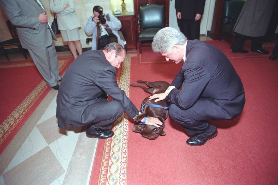 Jacques Chirac Bill Clinton Buddy fevrier 1999