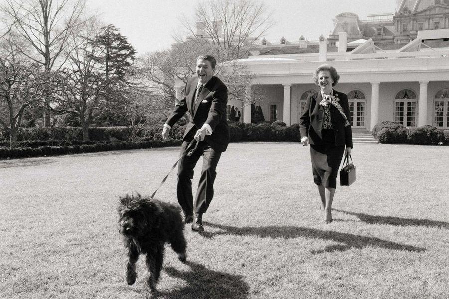 Lucky Ronald Reagan Margaret Thatcher fevrier 1985