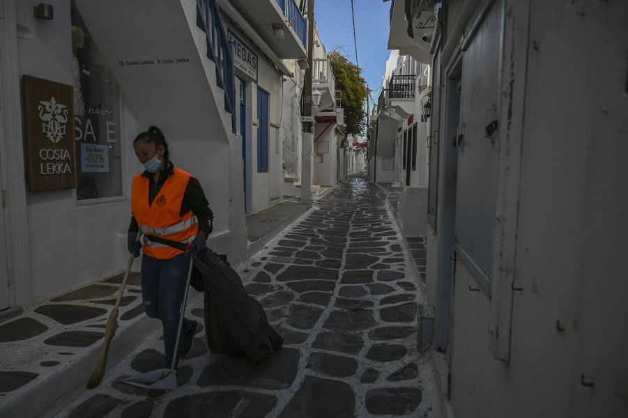 Mykonos, en Grèce, le 12 mai 2020.