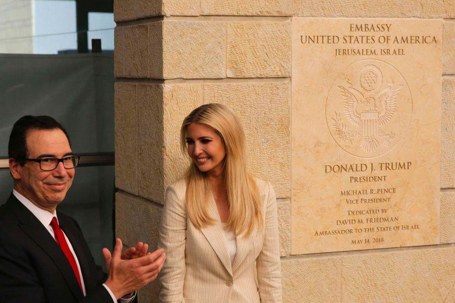 Steven Mnuchin etIvanka Trump à Jérusalem, le 14 mai 2018.