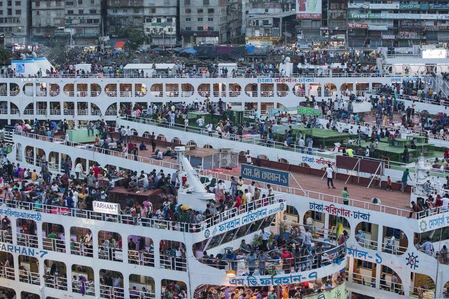 Le port deSadarghatle 30 juillet 2020.
