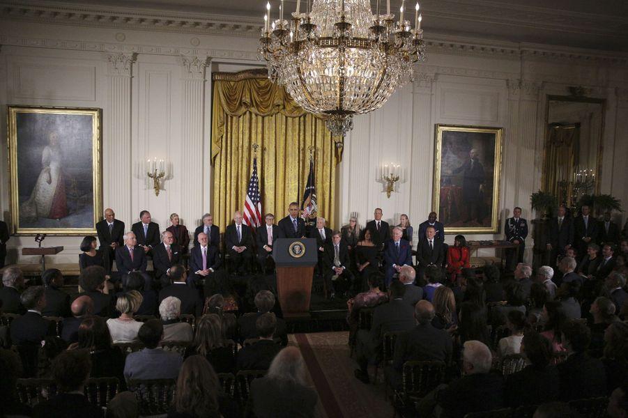 Remise des médailles présidentielles de la Liberté à la Maison Blanche.