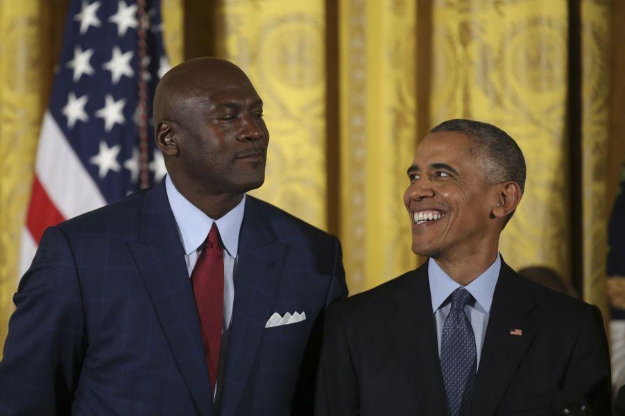 Michael Jordan et Barack Obama.