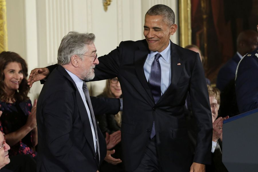 Robert De Niro et Barack Obama.
