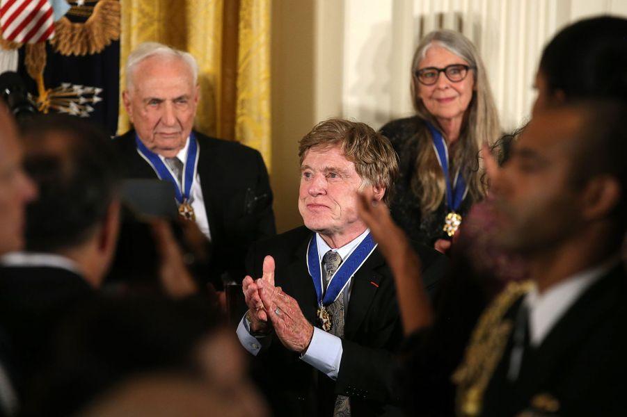 Robert Redford après avoir reçu la médaille présidentielle de la Liberté.