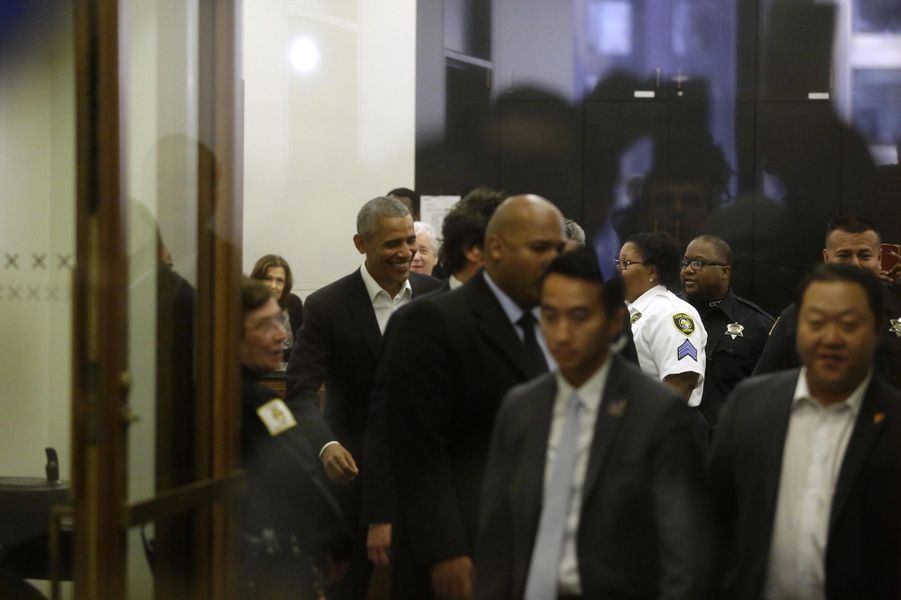 Barack Obama à Chicago, le 8 novembre 2017.