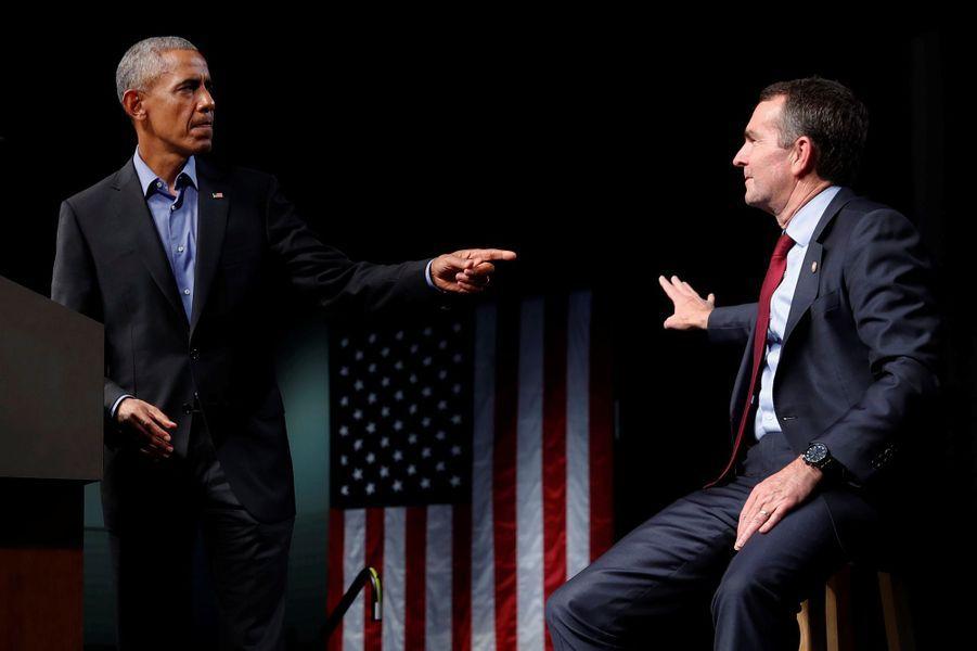 Barack Obama à Richmond, en Virginie, le 19 octobre 2017.