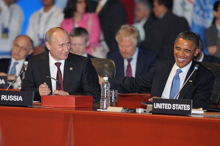 Vladimir Poutine et Barack Obama au G20 à Los Cabos (Mexique), le 18 juin 2012.