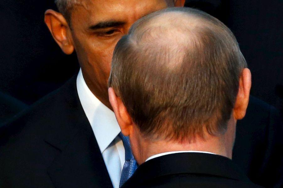 Barack Obama et Vladimir Poutine au G20 à Antalya (Turquie), le 15 novembre 2015.