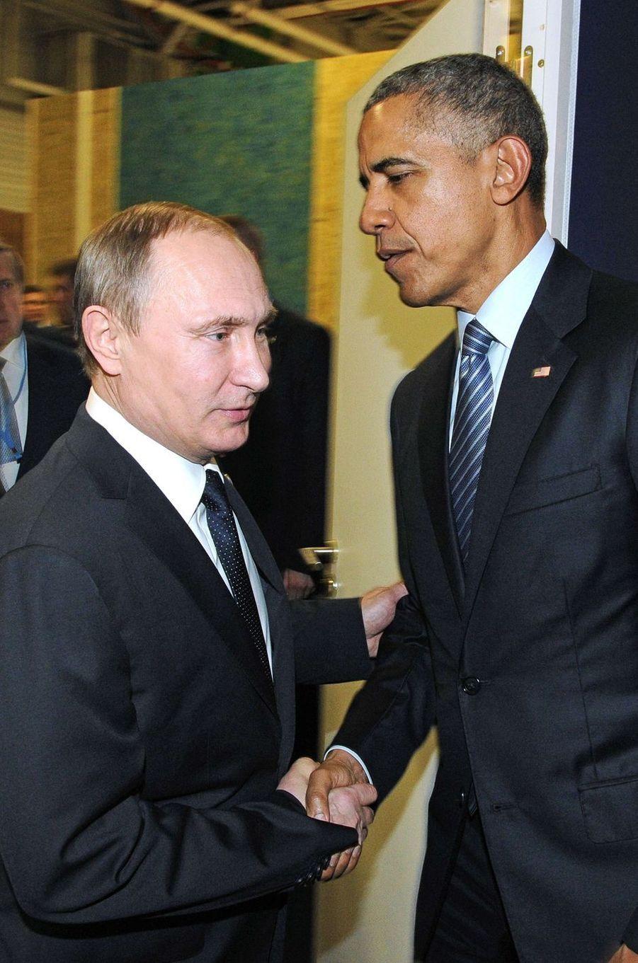 Vladimir Poutine et Barack Obama à la COP21 à Paris, le 30 novembre 2015.