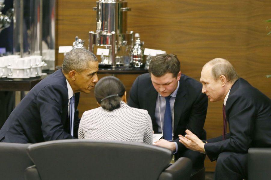 Barack Obama et Vladimir Poutineau G20 à Antalya (Turquie), le 15 novembre 2015.