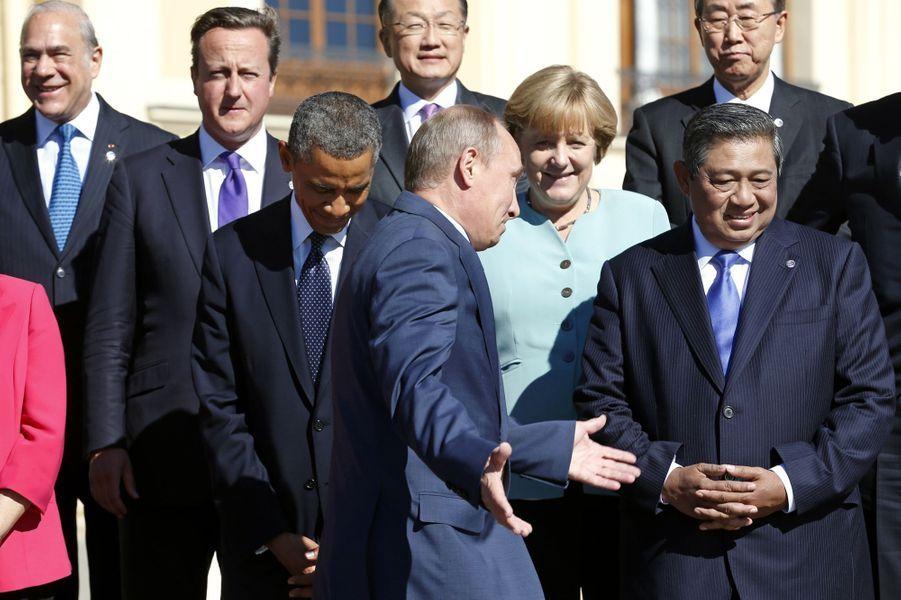 Barack Obama et Vladimir Poutine au G20 à Saint-Pétersbourg, le 6 septembre 2013.