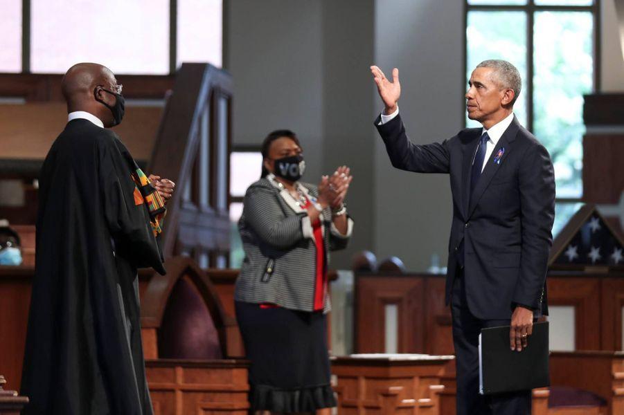 Barack Obama a prononcé l'éloge funèbre de John Lewis, le 30 juillet 2020.