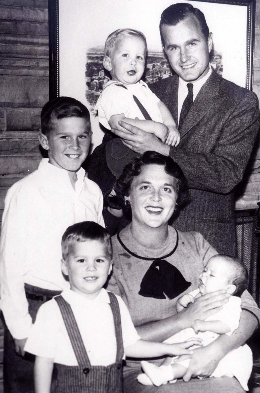 Photo de famille des Bush, en 1956.