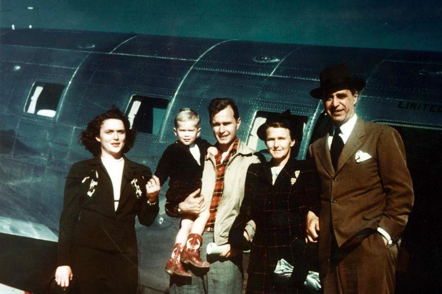 Photo de famille des Bush, dans les années 1950.