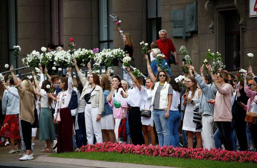 Les femmes à Minsk, le 13 août 2020.