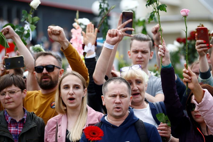 Les manifestations anti violence à Minsk.