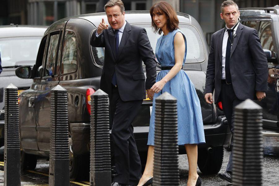 Brexit: David et Samantha Cameron ont voté jeudi à Londres.